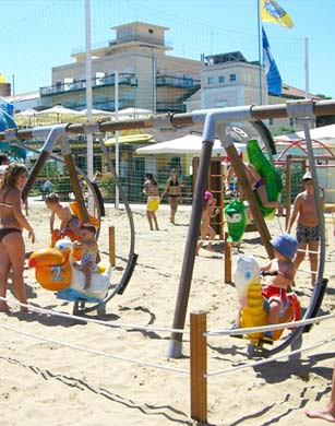 Children's play area on the beach