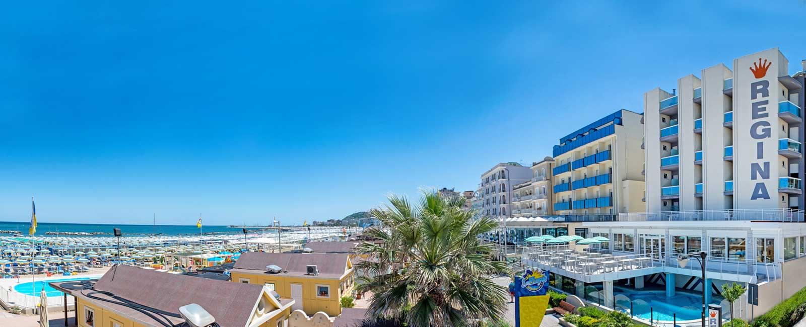 Panoramica del nostro hotel sul mare