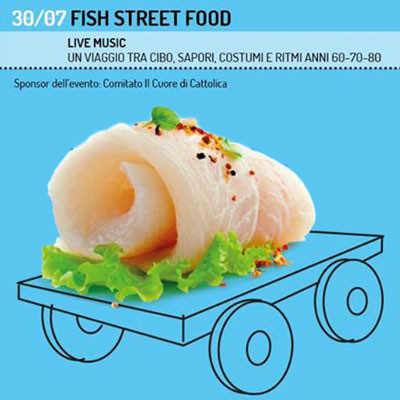"Cattolica terra di sapori col ""Dinner on the road"" fish street food"