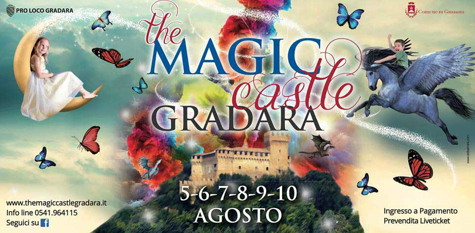 Un mondo di sogno, fantasia e magia, dal 5 al 10 agosto Gradara si colora con The Magic Castle